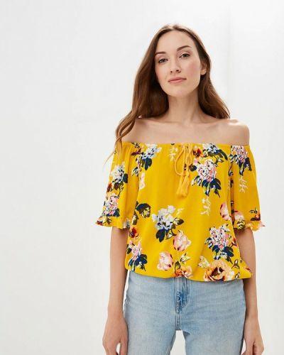 Блузка с открытыми плечами - желтая Dorothy Perkins