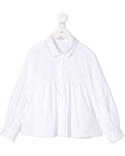 Рубашка белый на пуговицах Brunello Cucinelli
