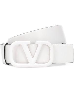 Кожаный белый ремень с поясом Valentino Garavani