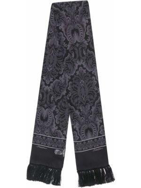 Szalik frędzlami prążkowany Dolce And Gabbana