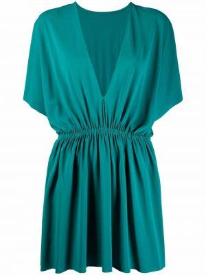 Zielona sukienka z dekoltem w serek Eres