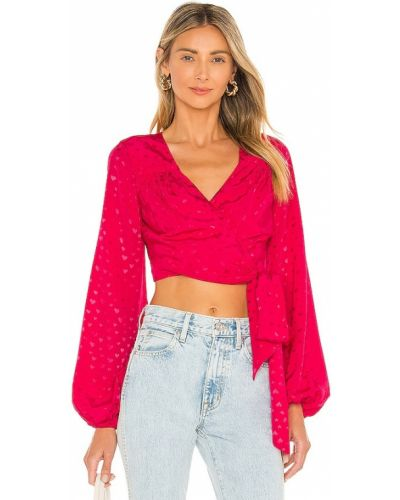Różowa koszulka elegancka Majorelle