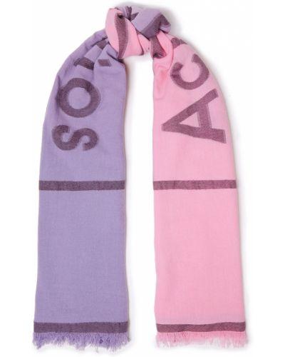 Ватный розовый хлопковый шарф Acne Studios
