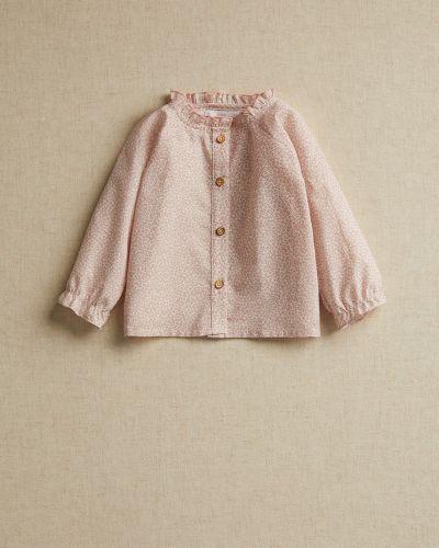 Свободная розовая блузка свободного кроя Mango Kids