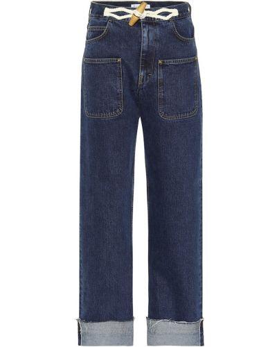 Широкие джинсы с декоративной отделкой Jw Anderson