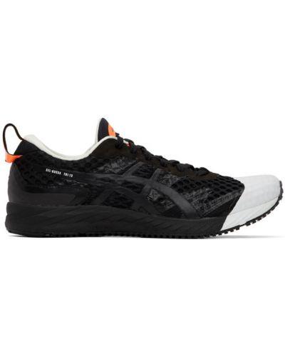 Черные кроссовки на каблуке с сеткой Affix