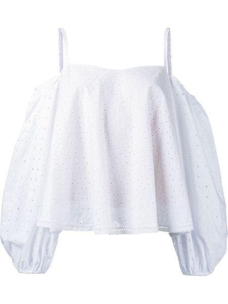 Блузка с открытыми плечами - белая Anna October