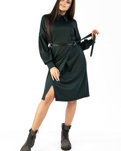 Трикотажное платье с длинными рукавами с запахом Mari-line
