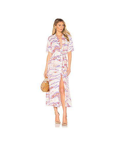 Платье макси розовое на пуговицах Hofmann Copenhagen