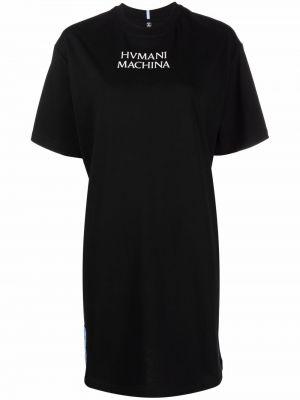 Платье мини короткое - черное Mcq