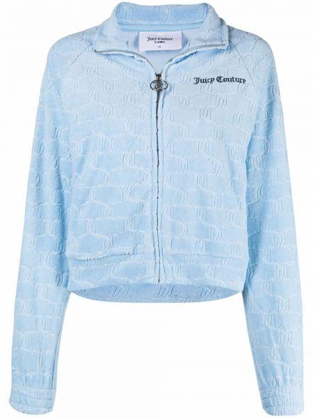 Синяя спортивная куртка на молнии с воротником Juicy Couture