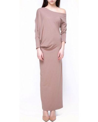 Бежевое вязаное платье Vergans