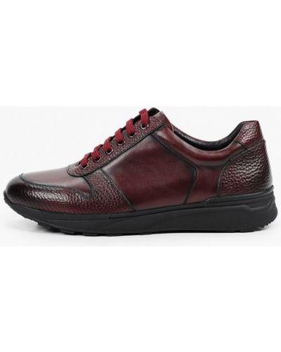 Красные кожаные кроссовки Dino Ricci