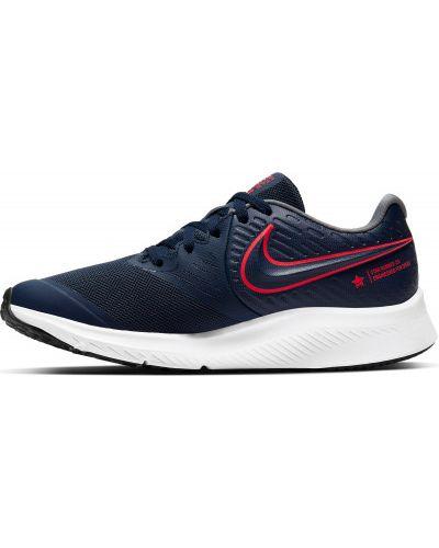 Синие кожаные кроссовки Nike