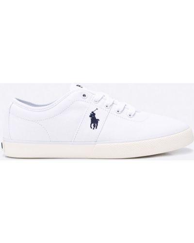 Кеды белые текстильный Polo Ralph Lauren
