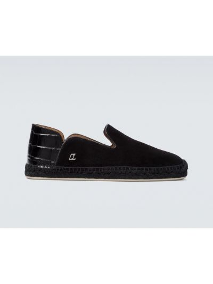 Czarne loafers skorzane Christian Louboutin