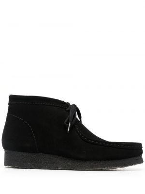 Черные кожаные ботинки на шнуровке Clarks Originals