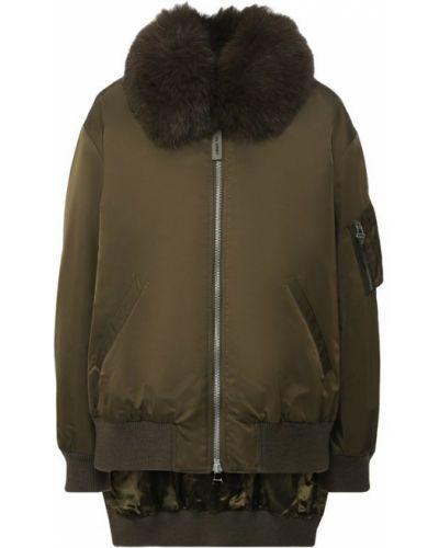 Куртка с манжетами - зеленая Army Yves Salomon