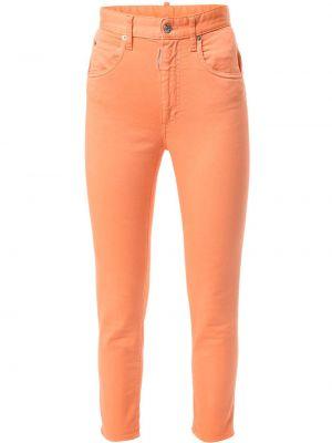 Облегающие укороченные джинсы на молнии с пайетками Dsquared2