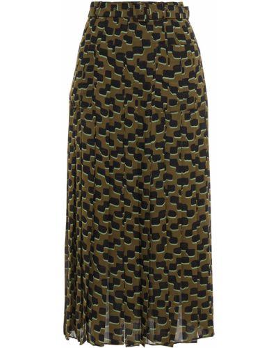 Зеленая плиссированная юбка миди с карманами Kate Spade New York