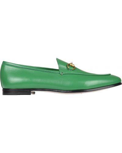 Зеленые лоферы Gucci