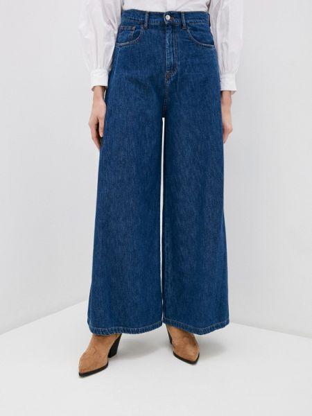 Синие весенние итальянские джинсы свободного кроя Miss Miss By Valentina