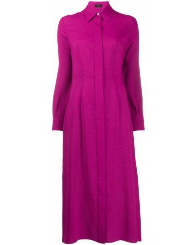 Платье миди розовое классическое Joseph