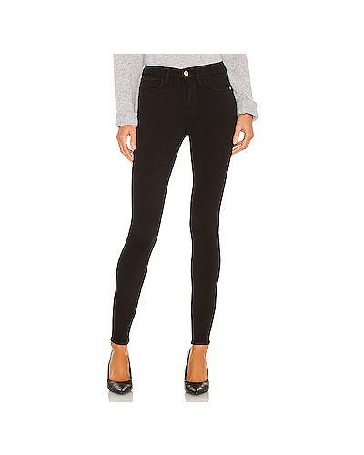 Черные джинсы-скинни стрейч на молнии Frame