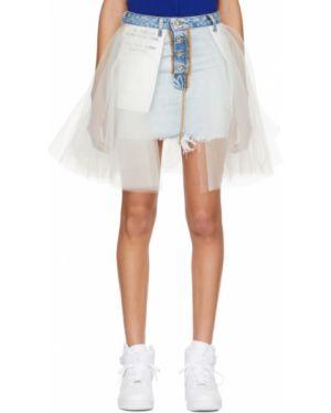 Юбка мини джинсовая на пуговицах Unravel