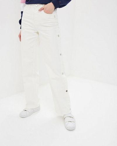 Широкие джинсы расклешенные белые Tommy Hilfiger