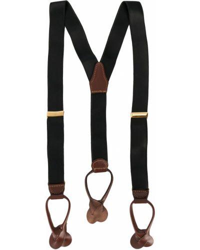 Кожаные черные подтяжки эластичные Gianfranco Ferre Pre-owned