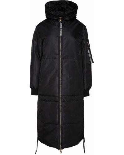 Пуховик удлиненный - черный Forte Couture