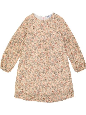 Розовое платье макси в цветочный принт Tartine Et Chocolat