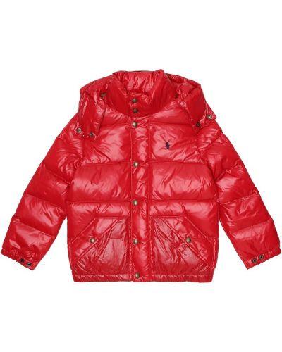Puchaty pikowana płaszcz Polo Ralph Lauren Kids