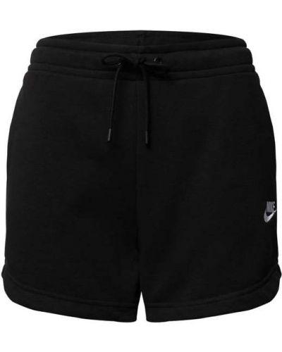 Czarne szorty dzianinowe Nike