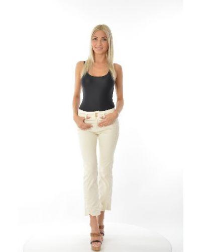 Белые джинсы-скинни Cop.copine