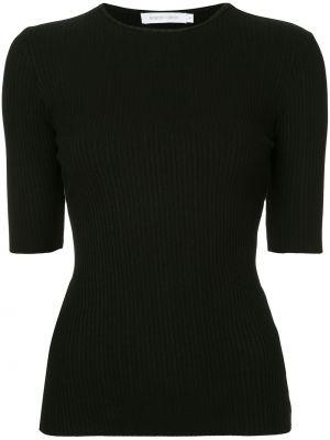 Прямая черная футболка с вырезом Nobody Denim