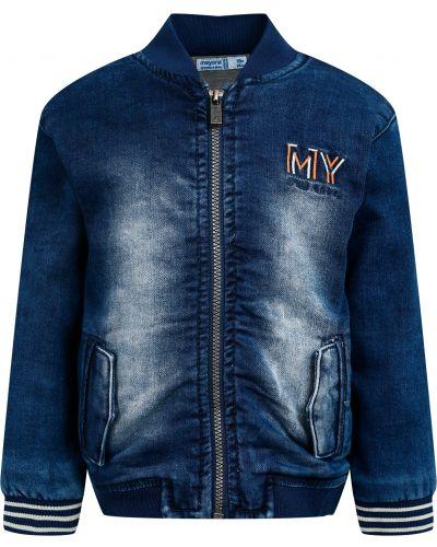 Хлопковая синяя куртка Mayoral