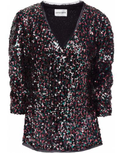 Bluzka z cekinami - czarna Antik Batik