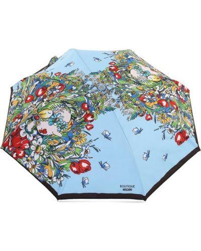 Голубой автоматический зонт Moschino