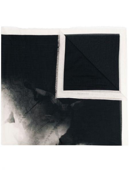 Czarny szalik z jedwabiu kopertowy Rick Owens Drkshdw