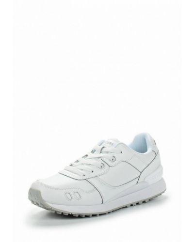 Белые кожаные кроссовки Strobbs