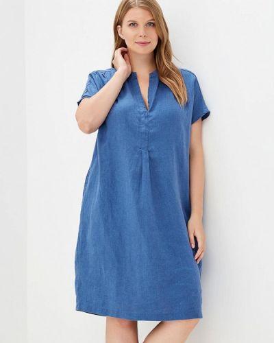 Повседневное платье синее Rosa Thea