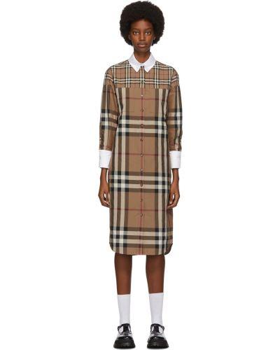 Платье макси с длинными рукавами - белое Burberry