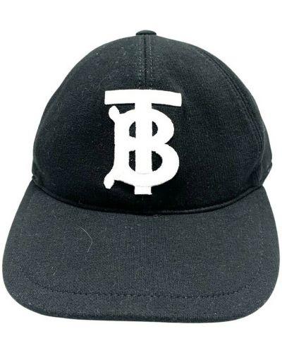 Czarna czapka z daszkiem Burberry Vintage