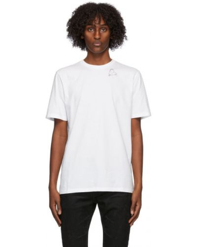 Bawełna biały koszula z krótkim rękawem z kołnierzem krótkie rękawy Saint Laurent