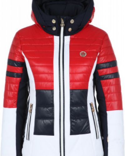 Приталенная утепленная красная куртка горнолыжная Sportalm