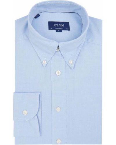 Niebieska koszula oxford bawełniana Eton