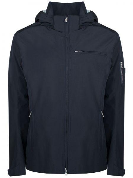 Хлопковая синяя куртка с капюшоном на молнии с карманами Bogner