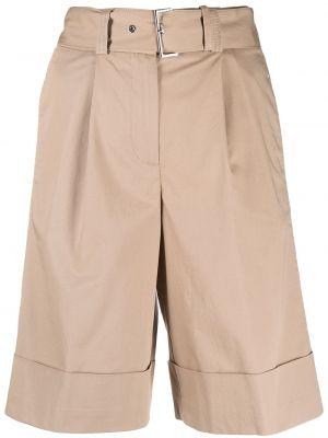 Хлопковые бежевые шорты-чиносы с карманами Peserico